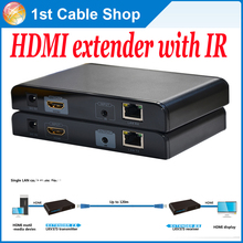 10PCS/lot LKV373IR Full HD1080p HDMI extender repeater with IR over Lan up to 120m(support 1 sender to N receivers)