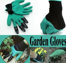 2 pairs Garden Gloves with Fingertips Claws Quick Easy to Dig and Plant Safe for Rose Pruning Gloves Mittens Digging Gloves(China)