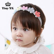 New Arrival Girls Flower Headbands Solid Children Headwear Hair Bows Baby Hair Accessories Hairband Baby(China)