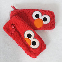 12pcs/lot 20*10cm Sesame street Elmo plush bag toys berber Fleece Fabric Sesame street soft toys(China)