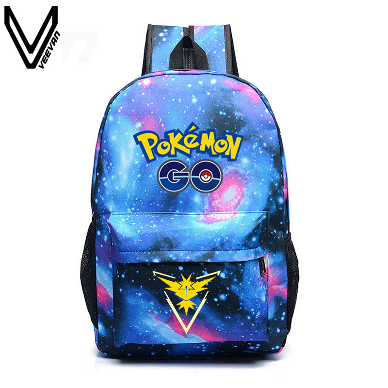 2017 New Hot Pokemon Go Galaxy Backpack Pokemon Backpacks For Teenager Shoulder Bag Laptop Bag SchoolBag Rucksack Travel Bookbag<br><br>Aliexpress