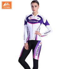 Women 2017 Pro Team Racing Bike Clothing Set MTB Lady Cycling Jerseys Long Bicycle Clothing Womens Cycle Sports Wear(China)