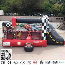 Fantastic Cars Speedway Bounce inflatable Slide for kids/ inflatable combo bounces(China)