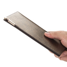 Fashion Sand Skin Long Money Bag Men Quality Pu Leather Casual Solid Organizer Wallets Male Gold Silver Young Thin Clutch Wallet