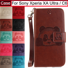 JURCHEN For Sony Xperia XA Ultra / C6 F3211 F3212 F3216 Cover Soft Leather Flip Silicone Case For Sony Xperia XA Ultra Case 32(China)