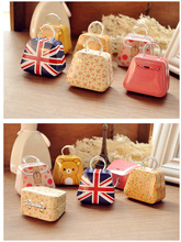 6pcs/lot creative miini full painted small bag style tin storage boxes christmas gift boxes christm ornament(China)