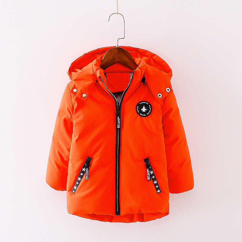 24M-4T Baby Clothing Parkas Baby Boy Clothes Solid Color Fashion AirPlane Down Cotton Parkas Coat Baby Boy Parkas For Winter V20<br>