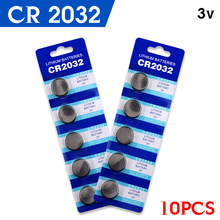10 x 3V Lithium Button/Coin Cells Batteries CR2032 DL2032 KCR2032 5004LC ECR2032(China)