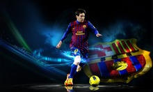 Wall pictures Lionel Messi - FCB Football Star Soccer Silk Poster Art Bedroom Decoration poster 100x60 cm