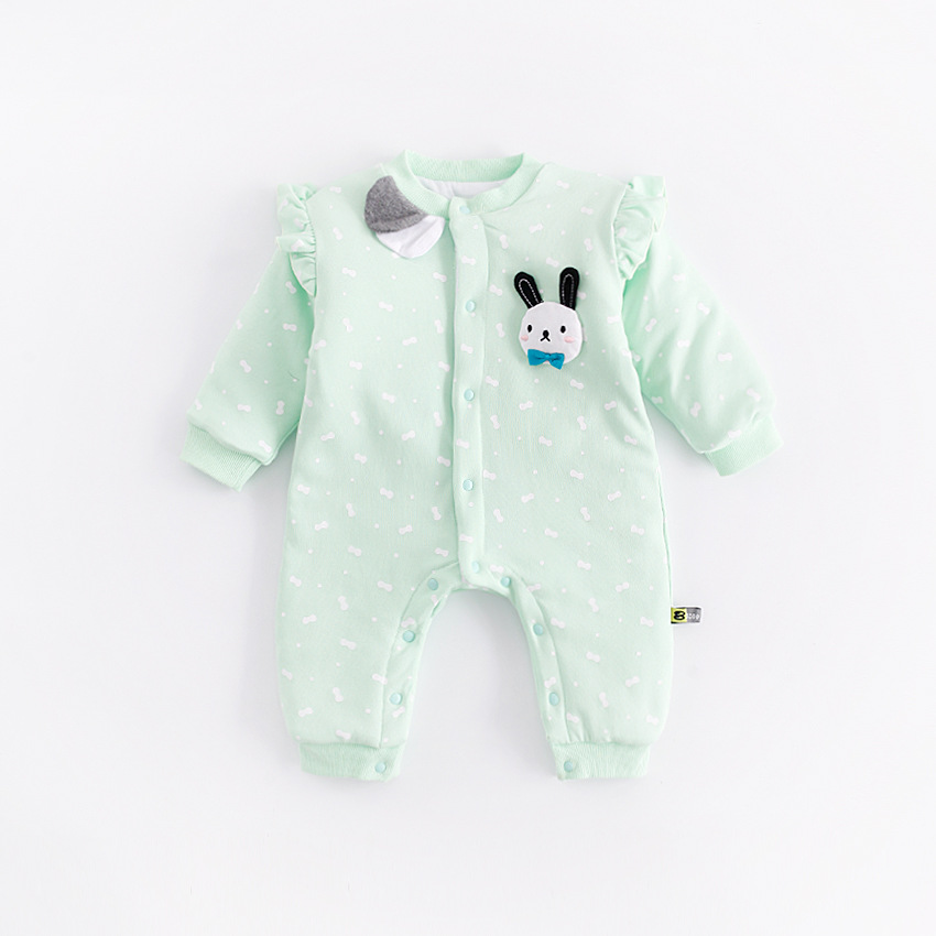 Peninsula Baby 2018 NEW Baby Rompers Winter Baby Boys Girls Clothing Cartoon Long Sleeve Hooded Jumpsuit Kids Newborn Outerwear <br>