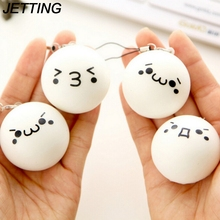 JETTING New Arrival High Quality Cute Cartoon Face Squishy Buns Bag Key Mobile Phone Straps Pendant 4cm Chain Cellphone Hot Sale