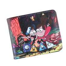 2017 New Arrival American Gravity Falls TV Cartoon Children Anime Wallet Men Wallet Women Short High Quality Leather Cute Purse(China)