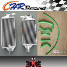 ALUMINUM RADIATOR for KAWASAKI KX500 1988-2004 03-00 1999 1998 1997 & Green HOSE(China)