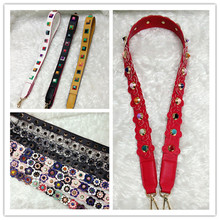 Women Fashion Brand Design Bag Strap Save You Bag Replacement Bag Belt Flower Rivet Bag Accessories Big discount for sales(China)