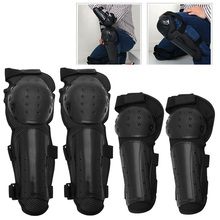4Pcs Knee Support Motorcycle Knee Protector Brace Protection Elbow Pad Kneepad(China)