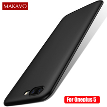 Silicone Case for Oneplus 5 Fine Matte Skin Grip Soft Back Cover Oneplus5 Slim Phone Cases(China)