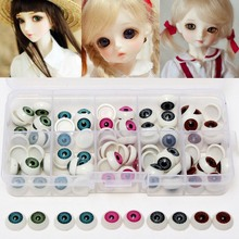 100pcs/box 12mm Doll Eyeballs Half Round Acrylic Eyes for DIY Doll Bear Crafts Mix Color Plastic Doll EyeBall  Doll Toy Parts