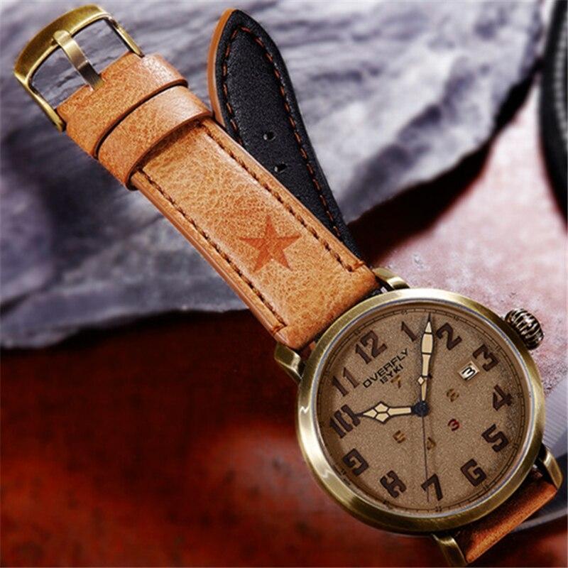 EYKI Vintage Mens Watches 2017 Top Brand Luxury Leather Quartz Watch Man Clock Army Military Antique Watch zegarek meski Khaki<br>