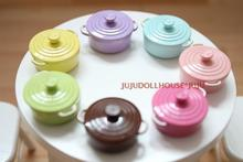 MINI doll house Siwan clay scene with mini colored enamel pot model multicolor election