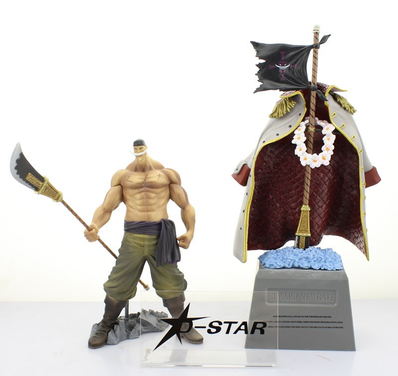EMS Shipping 6 sets One Piece Anime 8 Whitebeard - Edward Newgate + 12 Tombstone Set Boxed PVC Action Figure Collection Model<br>
