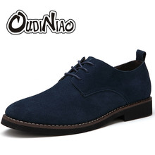 Buy OUDINIAO Faux Suede Mens Shoes Casual Large Sizes Fashion 2018 British Shoes Men Casual Classic Shoes Male Zapatos Hombre for $22.69 in AliExpress store
