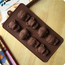 OnnPnnQ 1PCS Hippo Lion Bear Shape Silicone Mold Jelly Chocolate Soap Cake Decorating DIY Kitchenware ,Bakeware