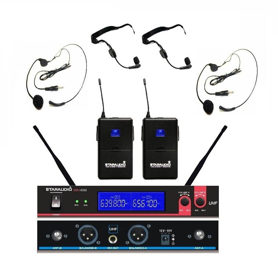 uhf 2ch headset mic