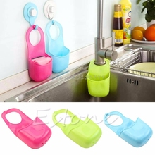 Kitchen Sink Sponge Hanging PVC Shelving Rack Drain Faucet Storage Pail Shelves #G205M# Best Quality(China)
