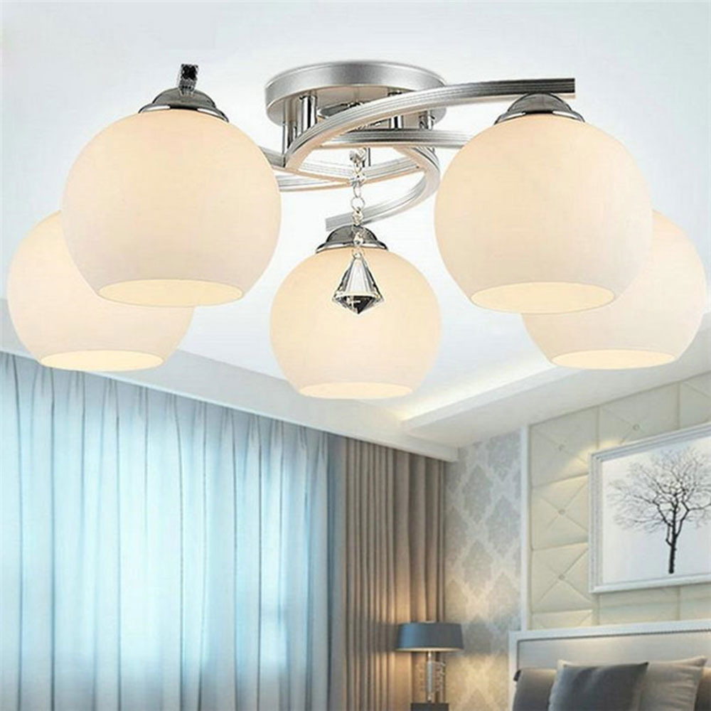 New Crystal Decoration lamps bedroom modern ceiling lamp three lampshade lamps living room ceiling decoration home lighting<br><br>Aliexpress