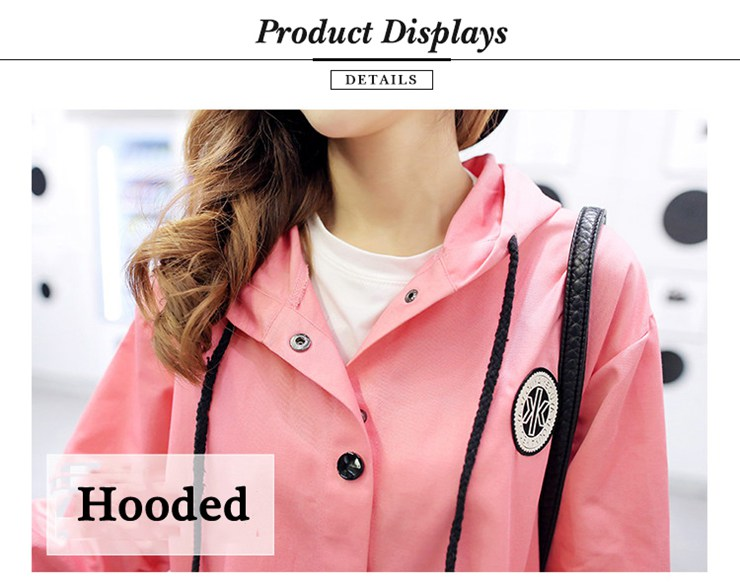 Jackets Women 2019 New Winter Fall Women\`s Basic Jacket Letter Print Coats Outwear Windbreaker Jacket Hooded Chaquetas Mujer (17)