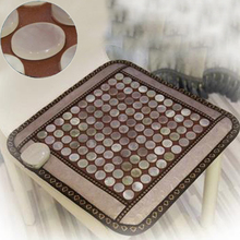 Free Shipping! Best Quality Natural Tourmaline Mat Jade Health Care Cushion Tourmaline Heat Pad Size 50cmX50cm(China)