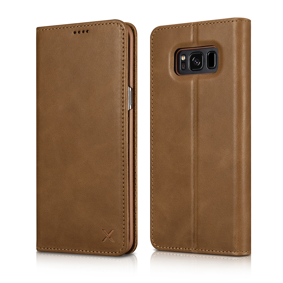 For Samsung Galaxy S8 S8 Plus Luxury Genuine Leather Magnetic Flip Wallet Case (10)