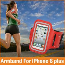 New 2016 Fashion Waterproof Sports Running Armband Phone Bags For iPhone 6 plus Case 5.5 Belt Wrist Strap GYM Arm Band Cover