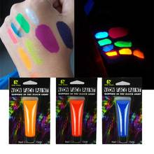 1pcs 15ml UV Fluorescent Paints  Neno Face Body Art Paints  Fashion Makeup Fancy Fluorescent Paint Super Bright Pigment