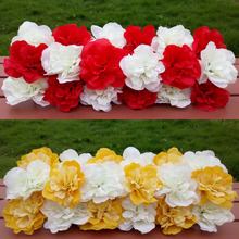 Hot sale Artificial Dahlia rose road arch flower 18colors wedding background lawn/pillar flower road lead home market decoration(China)