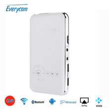 Everycom S6 Plus 32GB Android AC3 Bluetooth mini phone projector dlp wifi portable 5000mah Battery Keystone HDMI in