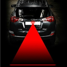 Car Laser Fog Light Rear Anti-Collision Driving Safety Signal Red Warning Lamp Brake Parking Light Auto Accessories