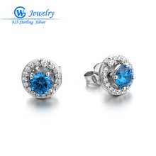 New Design Classic 925 Sterling Silver Stud Earrings Can be Changed One Item Two Style For Women's Specially Gift(China)