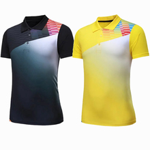 Sportswear Quick Dry breathable Black badminton shirt,Women/Men table tennis team game running training Sport golf T Shirts(China)