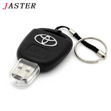 JASTER  Car Key Toyota USB Flash Drive 8GB 16GB 32GB 64GB Personalise Pen Drive USB Memory Stick Original Gift  Storage device