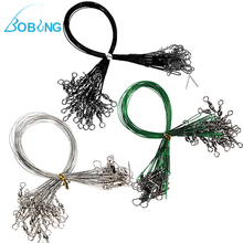Bobing 72Pcs/pack Fishing Trace Lures Leader Stainless Steel Wire Spinner Line 15cm 23cm 30cm Spinner Spinners