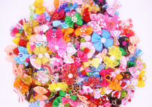 New 100/50/lot Dog Grooming Bows Diamand Pearls Style pet hair bows dog hair accessories pet shop dog acessorios