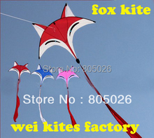free shipping high quality new design 2m fox kites with handle line outdoor toys delta weifang children kites bar carton rod