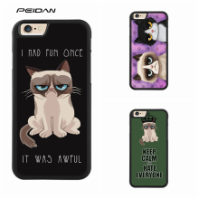 PEIDAN Grumpy Quotes I Had Fun It Was Awful 5 phone case for iphone X 4 4s 5 5s 6 6s 7 8 6 plus 6s plus 7 plus 8 plus #A293(China)