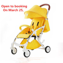 Foldable To Transport In A Car Trunk Or Boot Detachable And Washable Yellow Pushchair With Five-Point Safety Belt And Foot Brake