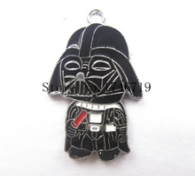 Hot Sale 10  pcs Cartoon Star Wars  Metal Charms DIY Jewelry Making Making Mobile Phone Accessories For Best Gift D-110