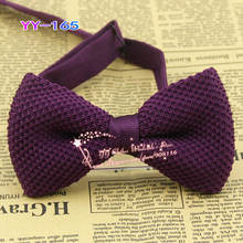 Solid Color: Purple,new Design Man Fashion Knitting Butterfly/bowties,men Knitted Adjustable Polyester Neck Bow Tie,yy-165