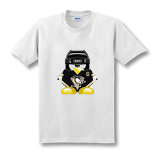 New Summer Mens Pittsburgh Penguins Retro USA NHL League Sleeve Camiseta Camisetas Fitness T Shirt(China)