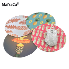 MaiYaCa Pineapples Art Print Mouse Pad Anti-Slip Round Mousepad Gift Gaming Speed Mice Mats