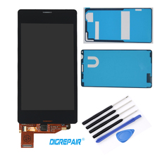 "LCD with Adhesive and Tools 4.3"" inch Black For Sony Xperia Z3 mini Compact D5803 D5833 LCD Display Touch Screen Digitizer Parts"